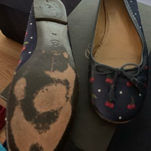 Cute cherry print J Crew print loafers